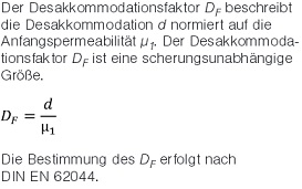 Desakkommodationsfaktor